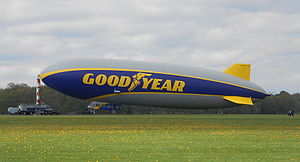 New Goodyear Zeppelin NT at mast.