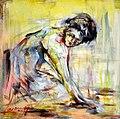Goran Gatarić, Cleaning Lady, 50x50, Oil on canvas.jpg