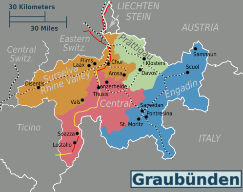 Map of Graubünden