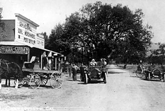 Chatsworth, Los Angeles - The center of Chatsworth, 1911, on what is now Topanga Canyon Boulevard