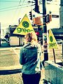 Green Party canvasser May 2011.jpg