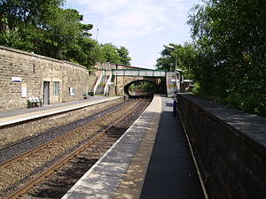 Greenfield, Greater Manchester - Greenfield railway station, Saddleworth and Oldham's only remaining railway station