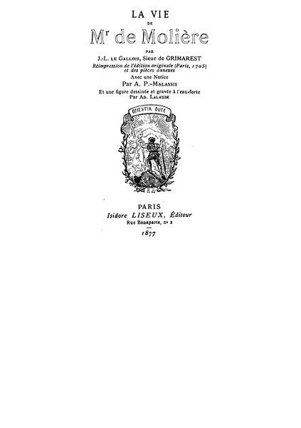 File:Grimarest La Vie de Molière (1705).djvu