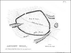 Mount Horeb Earthworks Complex - Image: Grimes Village enclosure Squier and Davis Plate XIV Figure 4