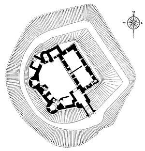 Three Castles - Image: Grosmont Castle plan, no labelling