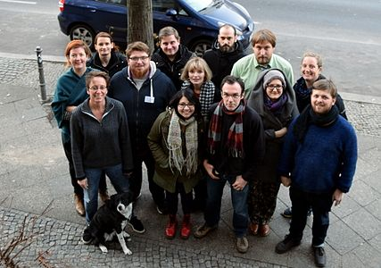 Group photo of the Partnerships workshop at Wikimedia Deutschland, November 2016.jpg