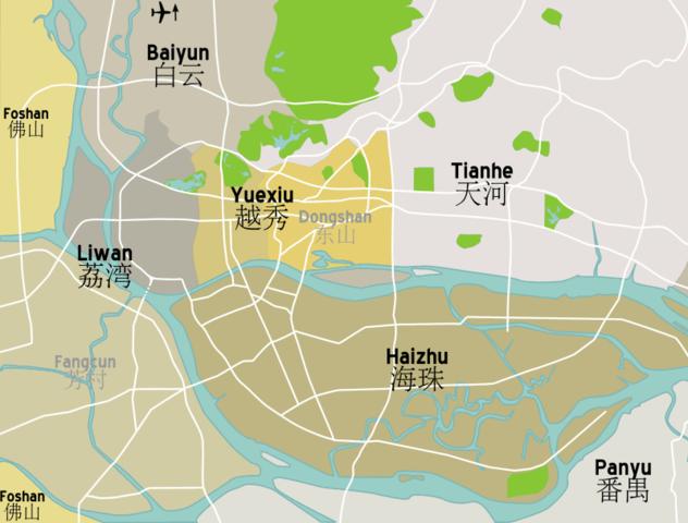 FileGuangzhou District Mappng Wikimedia Commons - Guangzhou map