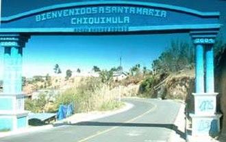 Santa María Chiquimula - Welcome sign for Santa María Chiquimula, 2004-04-16