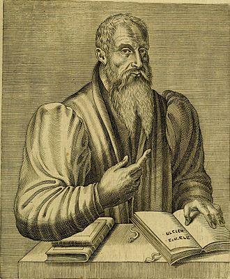 Guillaume Postel - Postel as depicted in Les vrais pourtraits et vies des hommes illustres grecz, latins et payens (1584) by André Thevet