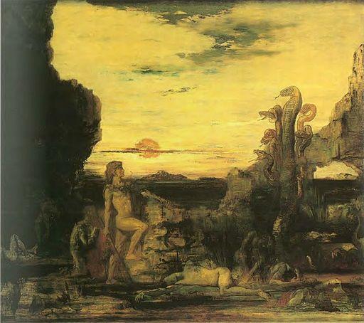 Gustave Moreau - Hercule et l'Hydre de Lerne, c. 1870