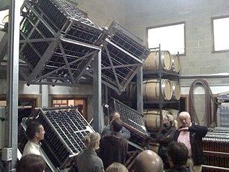 Sparkling wine production - Image: Gyropalette Machine