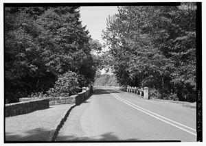 Horsetail Falls (Oregon) - Horsetail Falls Bridge on the Historic Columbia River Highway