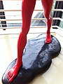 HKAC Wan Chai 香港藝術中心 Hong Kong Arts Centre 陳文令 Chen WenLing red sculpture long legs July-2013.JPG