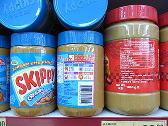 Skippy (peanut butter) - Jars of Skippy peanut butter
