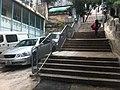 HK Sheung Wan 水池巷 Tank Lane stone stairs Outdoor sidewalk carpark Jan-2012.jpg