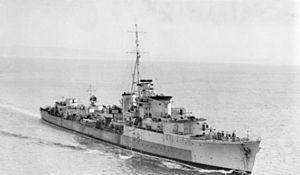 Q and R-class destroyer - Image: HMAS Quiberon (301247)