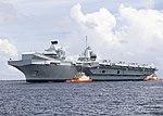 HMS Queen Elizabeth arrives at Naval Station Mayport in September 2018.jpg