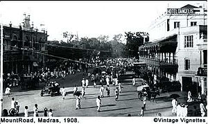 Anna Salai - Mount Road in 1900