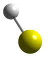 Ball and stick model of sulfanyl
