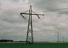 Pylons of the Baltic Cable HVDC in Sweden