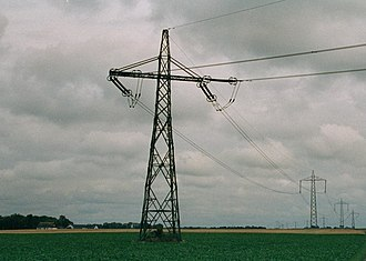 Baltic Cable - Pylons of the Baltic Cable HVDC in Sweden