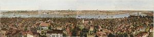Henry Aston Barker - Panorama of Constantinople (1813, aquatint)
