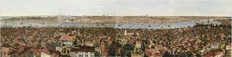 Henry Aston Barker - Panorama of Constantinople (1813, aquatint)