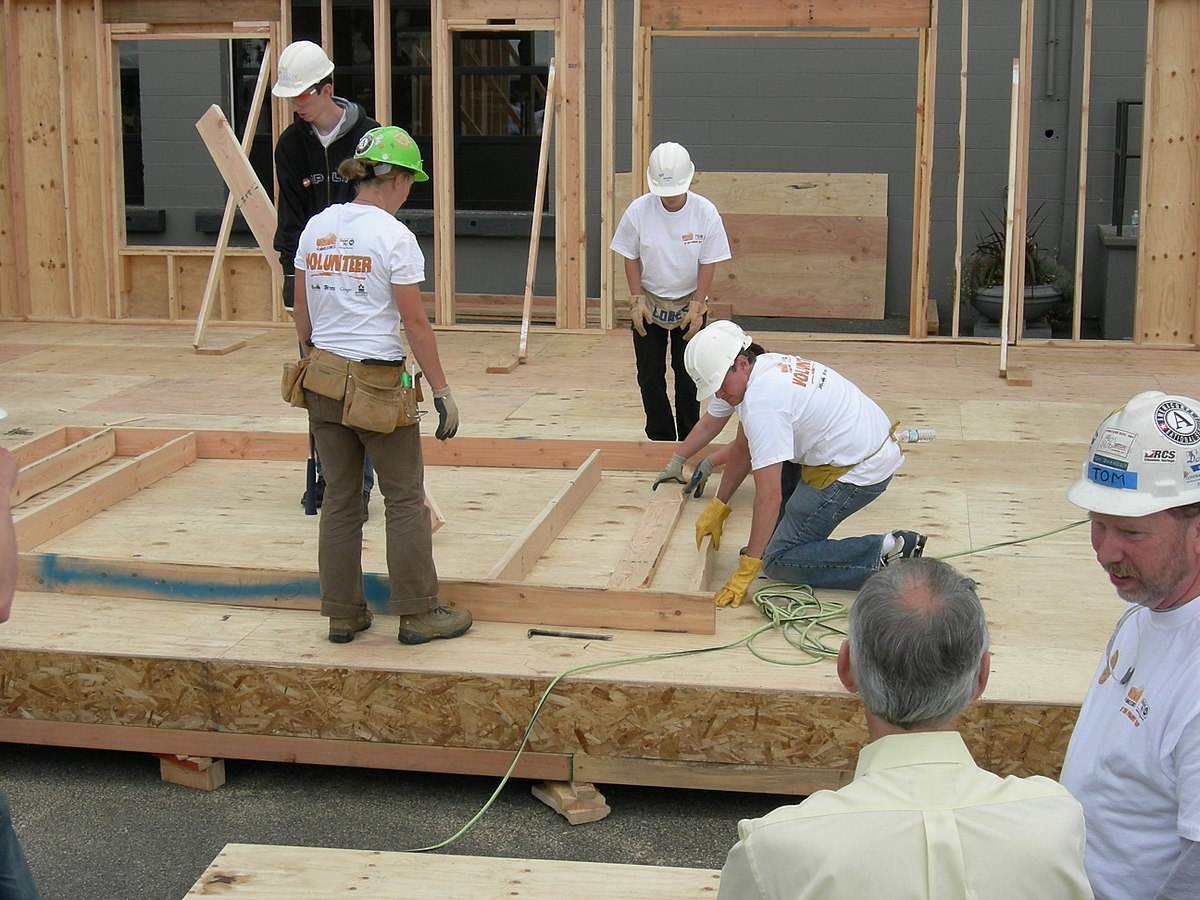 Habitat for humanity wikipedia for Construction habitat