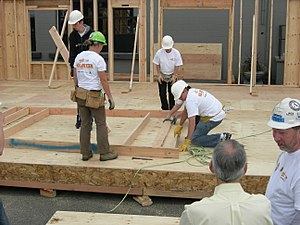 Habitat for Humanity - A 2007 construction site in the United States