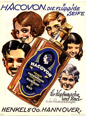 Family in advertising - A German advertisement for Hacavon, 1920