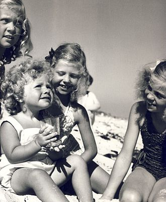 Princess Christina, Mrs. Magnuson - Christina (in front) at play with her sisters in 1945.