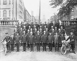 Halifax Regional Police - Halifax City Police on the Grand Parade, July 1914