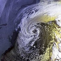 This image shows an extratropical low at peak ...