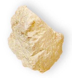 Halloysite - Image: Halloysite variety Indianaite Hydrous Aluminum silicate Bedford, Lawrence County, Indiana 2770