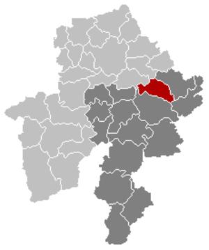 Hamois - Image: Hamois Namur Belgium Map