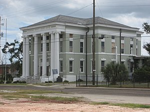 National Register of Historic Places listings in Hancock County, Mississippi - Image: Hancock County Courthouse 14Sept 07
