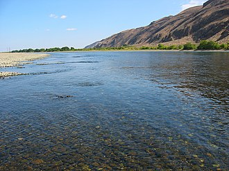 Reach (geography) - Example: Hanford Reach National Monument, Washington State, USA.  The last significant free-running (undammed) section of the Columbia River in the US