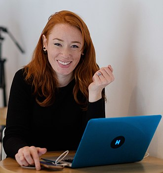 Hannah Fry - Fry at the Data of Tomorrow Conference in 2017