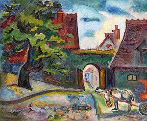 Hanns Bolz - Image: Hanns Bolz Esel mit Karren 1903