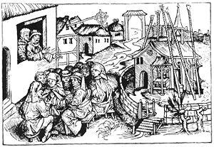 Hartmann Schedel - Image: Hans Boehm Pfeifer von Niklashausen Schedelsche Weltchronik