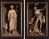 Hans Memling - Triptych of the Family Moreel (closed) - WGA14933.jpg