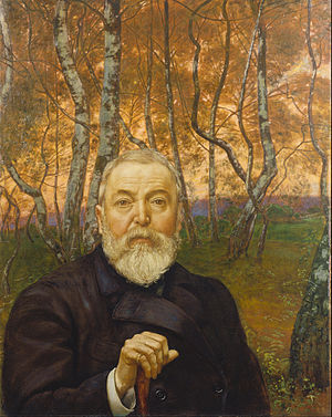 Hans Thoma - Self portrait