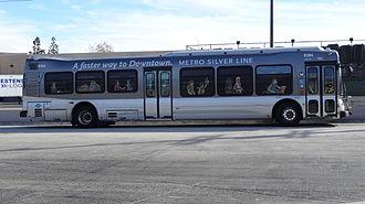 Silver Line (Los Angeles Metro) - Metro Silver Line 45 foot NABI Compo bus