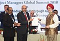 """Hardeep Singh Puri presenting the awards, at the inauguration of the Project Managers Global Summit, 2018 on """"Powering India's Breakthrough Growth - New Dimensions in Project Management"""", in New Delhi.JPG"""