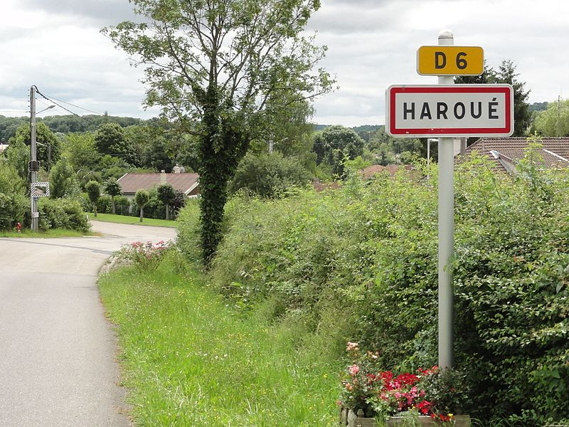 Haroué (M-et-M) city limit sign