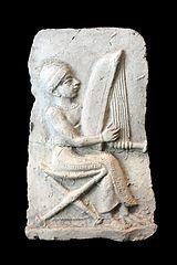 Relief harpist AO 12453