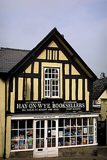 Hay-on-Wye Town in Brecknockshire, Wales
