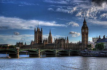 An HDR image of Parliament and Westminster Bridge