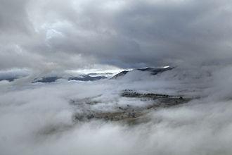 Aerosol - Mist and clouds are aerosols.