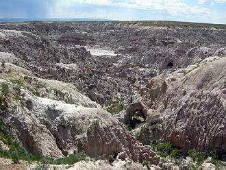 Natrona County, Wyoming - Badlands of Hell's Half-Acre, Natrona Co.